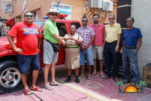 San Pedro Town Council Donates New Vehicle to Police Fleet