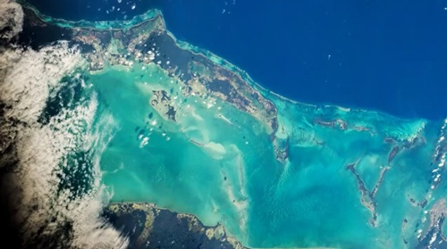 Belize Coast as Seen from Space